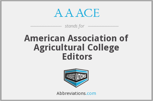 AAACE - American Association of Agricultural College Editors