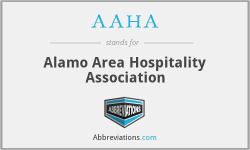 AAHA - Alamo Area Hospitality Association