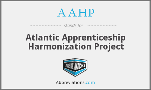 AAHP - Atlantic Apprenticeship Harmonization Project