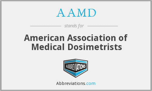 AAMD - American Association of Medical Dosimetrists