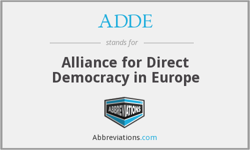 ADDE - Alliance for Direct Democracy in Europe