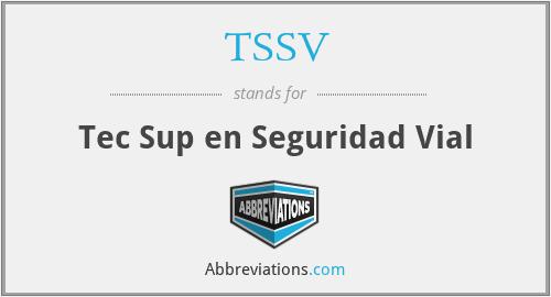 TSSV - Tec Sup en Seguridad Vial