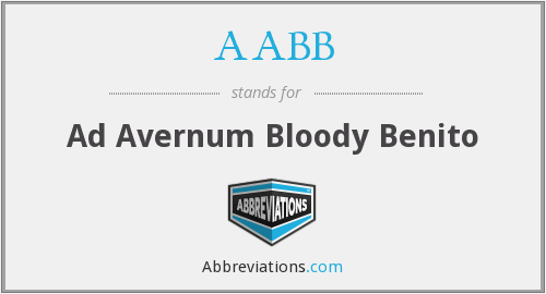 AABB - Ad Avernum Bloody Benito