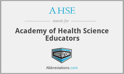 AHSE - Academy of Health Science Educators