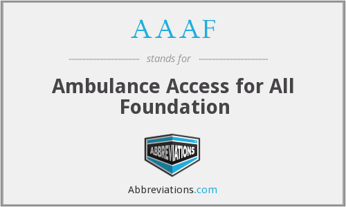 AAAF - Ambulance Access for All Foundation