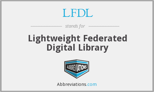 LFDL - Lightweight Federated Digital Library