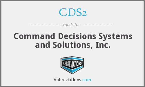 What does CDS2 stand for?