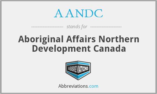 AANDC - Aboriginal Affairs Northern Development Canada