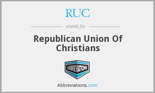 RUC - Republican Union Of Christians