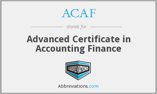 ACAF - Advanced Certificate in Accounting Finance