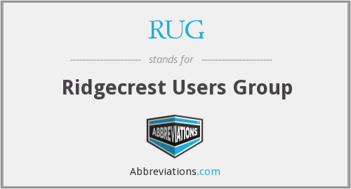 RUG - Ridgecrest Users Group