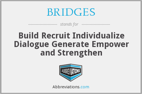 BRIDGES - Build Recruit Individualize Dialogue Generate Empower and Strengthen