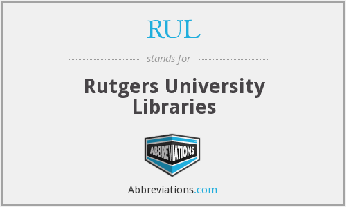 RUL - Rutgers University Libraries