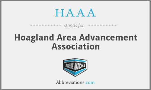 HAAA - Hoagland Area Advancement Association