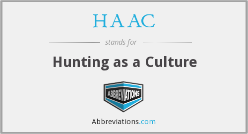 HAAC - Hunting as a Culture