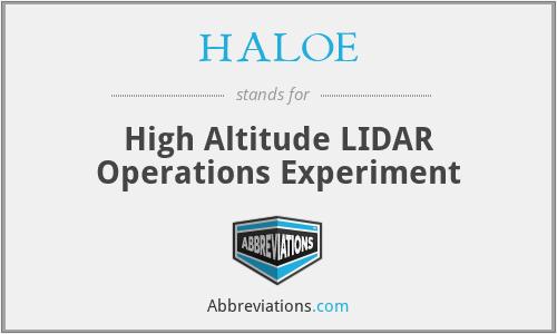 HALOE - High Altitude LIDAR Operations Experiment