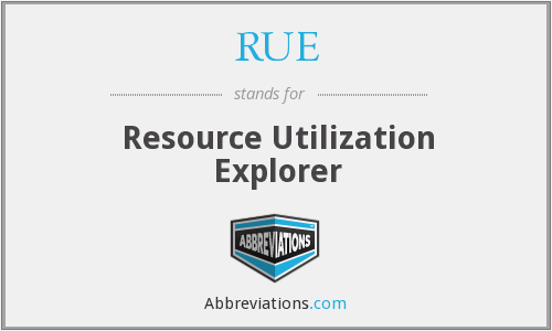 RUE - Resource Utilization Explorer