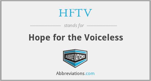 HFTV - Hope for the Voiceless