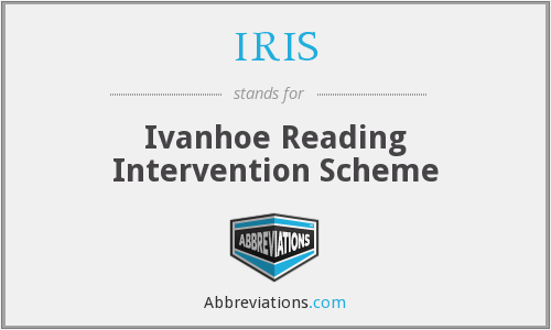 IRIS - Ivanhoe Reading Intervention Scheme