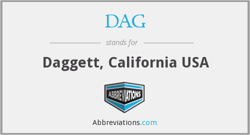 DAG - Daggett, California USA
