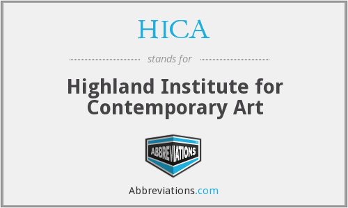 HICA - Highland Institute for Contemporary Art
