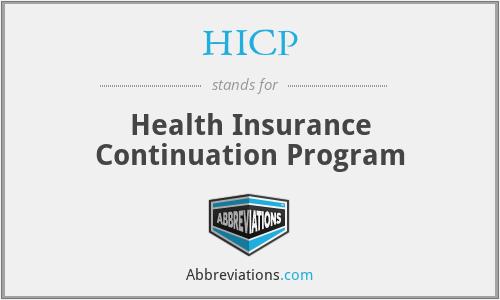 HICP - Health Insurance Continuation Program