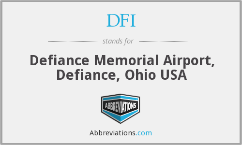 DFI - Defiance Memorial Airport, Defiance, Ohio USA
