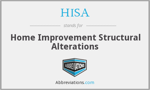 HISA - Home Improvement Structural Alterations