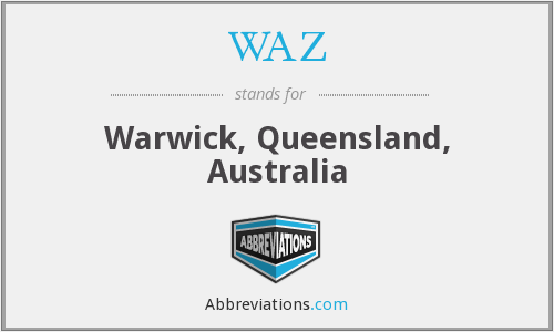 WAZ - Warwick, Queensland, Australia