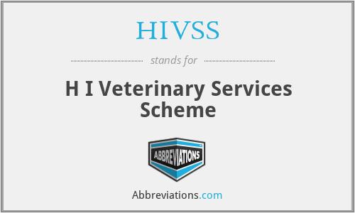 HIVSS - H I Veterinary Services Scheme
