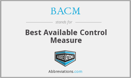 BACM - Best Available Control Measure
