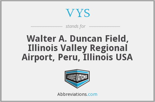 VYS - Walter A. Duncan Field, Illinois Valley Regional Airport, Peru, Illinois USA