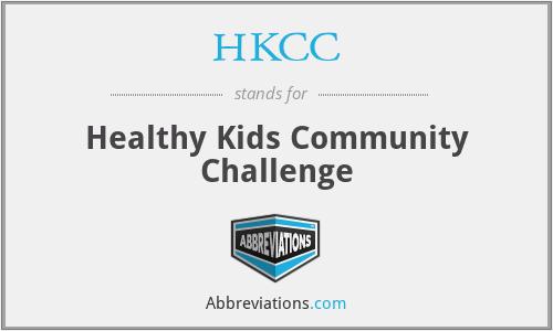 HKCC - Healthy Kids Community Challenge