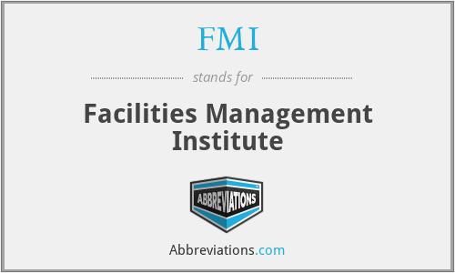 FMI - Facilities Management Institute