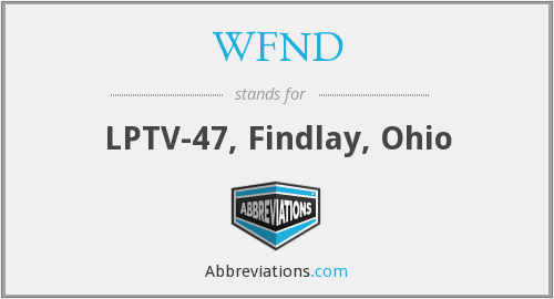 What does WFND stand for?