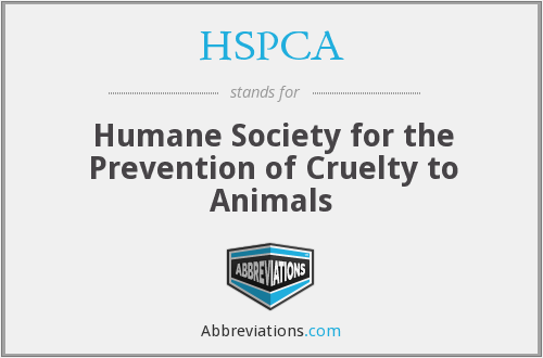 HSPCA - Humane Society for the Prevention of Cruelty to Animals
