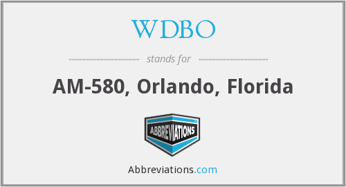 What does WDBO stand for?