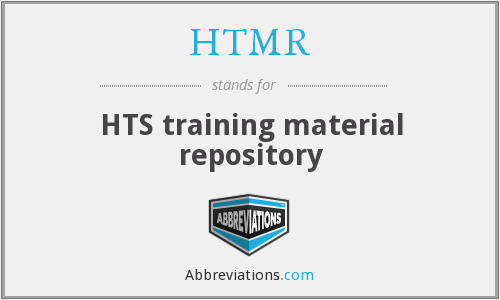 HTMR - HTS training material repository