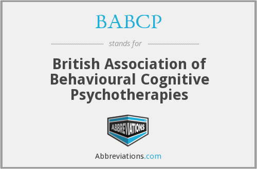 What does BABCP stand for?
