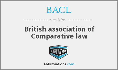 BACL - British association of Comparative law