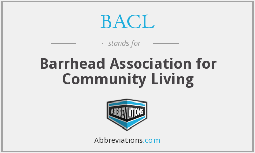 BACL - Barrhead Association for Community Living