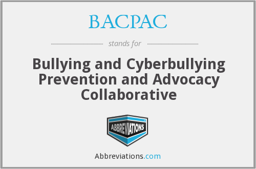BACPAC - Bullying and Cyberbullying Prevention and Advocacy Collaborative