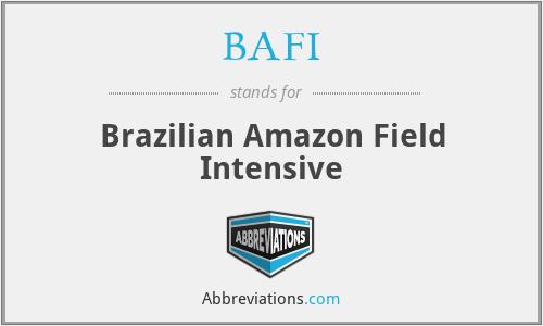 BAFI - Brazilian Amazon Field Intensive