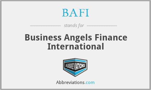 BAFI - Business Angels Finance International