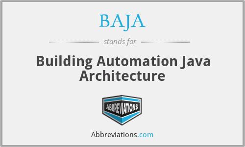 BAJA - Building Automation Java Architecture