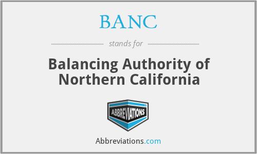 BANC - Balancing Authority of Northern California