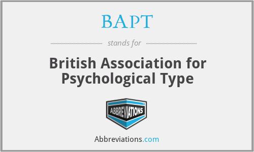 BAPT - British Association for Psychological Type