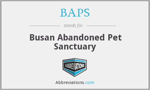 BAPS - Busan Abandoned Pet Sanctuary