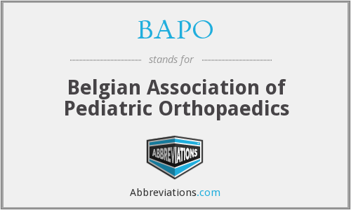 BAPO - Belgian Association of Pediatric Orthopaedics