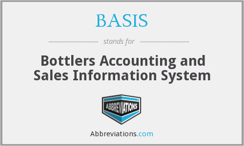 BASIS - Bottlers Accounting and Sales Information System